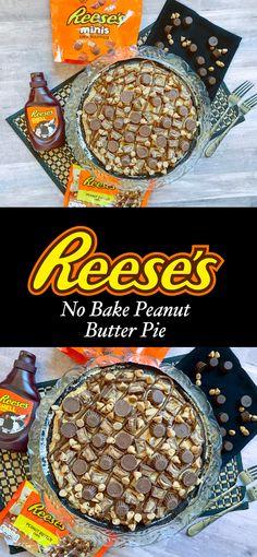 Reese's No Bake Peanut Butter Pie #dessert #reeses #pie #peanutbutterpie