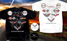 Corvette Tee available at Lingenfelter.com (260) 724-2552 Lingenfelter Performance Engineering Over 500+ apparel items.  #Corvette #Stingray #Lingenfelter http://www.lingenfelter.com/category/C617.html