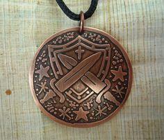 ogum - pingente de ogum - espadas e escudo de ogum - orixás