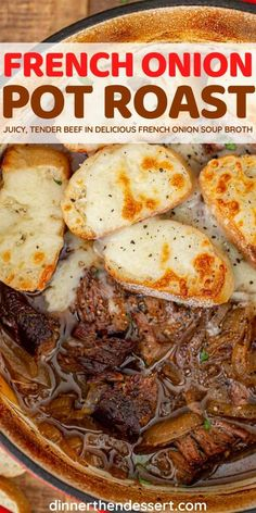 Crockpot Dishes, Crockpot Recipes, Cooking Recipes, Beef Dishes, Roast Beef Recipes, Ground Beef Recipes, Beef Meals, Roasted Onions, French Onion