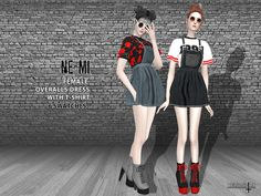 NEMI Overalls Dress by Helsoseira for The Sims 4