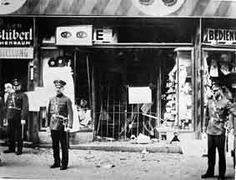 """Police outside a Jewish shop. The """"Night of Broken Glass"""" Kristallnacht. Nov 7th is the 75 year anniversary of this terrible night"""