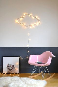 We love the cloud made from warm white fairy lights