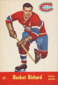 """Rocket"" Richard hockey card (1955-56 Parkhurst)"