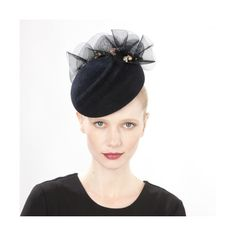 KAOLIN RIPPLE COCKTAIL HAT WITH RUFFLE, Occasion Wear ($1,010) ❤ liked on Polyvore featuring accessories, hats, evening hats, holiday hats and cocktail hat
