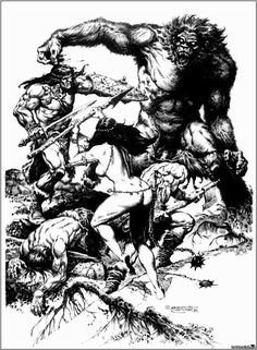 A gallery of Jaime Brocal Remohí illustrations. He was a Spanish illustrator of fantasy and horror comics for Warren, numerous European publishers, and Heavy Metal magazine Comic Book Artists, Comic Books Art, Comic Art, Fantasy Heroes, Fantasy Characters, Conan The Barbarian, Barbarian Woman, Storyboard Artist, Sword And Sorcery