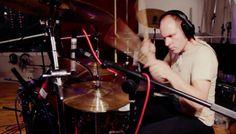 Jason Bowld recording the Mapex Saturn Kit
