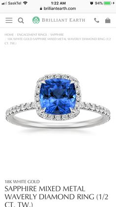 With a clear diamond in place of the blue one would be the ring I would want!