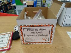 Growing a STEM Classroom Blogpost about setting up engineering challenge kits!