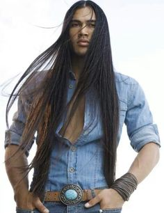 native men with long hair
