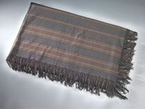 In chilly weather, Lincoln often wore this dark wool shawl over his shoulders. Many years later Robert Todd Lincoln gave his father's shawl to his own friend, Washington attorney Frederick Harvey.  In 1967 Harvey's daughter donated the shawl to the Smithsonian.