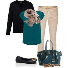 Teal and yes a touch of animal print