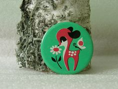 Soviet fallow deer button / badge  vintage by Design360Degrees