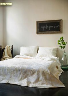 i think a chalkboard as bedroom decor is a cute idea!