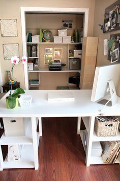 DIY desk made from a door