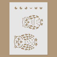 Owls Stencil por StencilDirect en Etsy