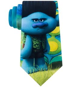 Display your fun side with the cheerful troll print of this bright tie from Trolls by DreamWorks. | Polyester | Spot clean | Imported | 3 1/8'' wide | DreamWorks Trolls © 2016 DreamWorks Animation LLC