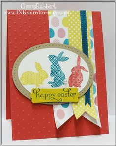 SU! Ears to You stamp set and Birds of a FEather DSP in Primrose Petals, Summer Starfruit and Island Indigo - Connie Babbert