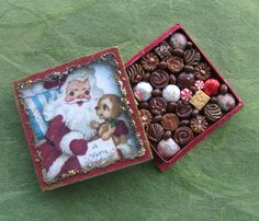 Dollhouse Miniature Christmas Box of Chocolates by TheSweetBaker, $13.50
