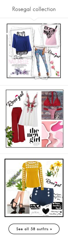 """""""Rosegal collection"""" by zina-lami ❤ liked on Polyvore featuring Post-It, Tory Burch, Schumacher, Alexandre Birman, Gap, Jimmy Choo, Valentino, Illesteva, Matthew Williamson and Accessorize"""