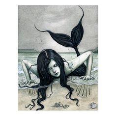 Dark Mermaid, Mermaid Beach, Mermaid Art, Dark Fantasy Art, Fantasy Kunst, Dark Gothic Art, Final Fantasy, Evil Mermaids, Mermaids And Mermen