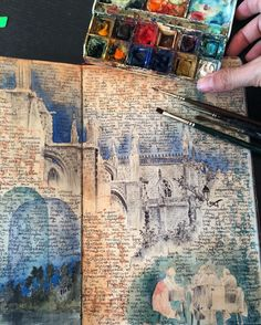 Sketchbook page from the cathedral in #Sevilla