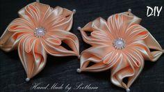 Цветы из лент Канзаши DIY Kanzashi flower Flor das fitas Flor de las cin...