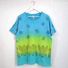 Camiseta aguamarina amarillo turquesa T-XL - María Jurado