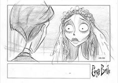Living Lines Library: Corpse Bride (2005) - Storyboards