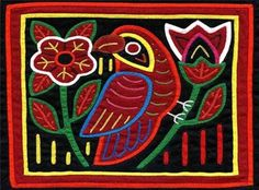 'BIRD w/ FLOWERS' - ACEO Mola Art Print by molamama