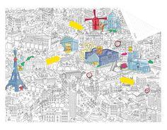 Carnet Pocket Map / Plan de Paris à personnaliser Paris / Noir & Blanc - OMY Design & Play