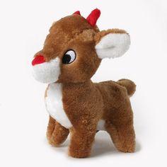 Plush Reindeer Dog Toy