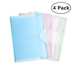 Office Folder Organizer File Folder Plastic Accordion Folder With 5 Pocket A4 Letter Size Organizer With Accordion Folder Folder Organization Office Folder