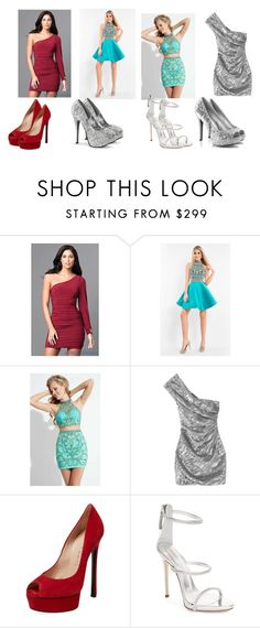 """""""Vote On Which One"""" by tealzebra36 ❤ liked on Polyvore featuring Rachel Allan, Yves Saint Laurent, Casadei and Giuseppe Zanotti"""