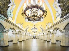 In Russia Palaces and Metro Stations Are Hard to Tell Apart - Moscow and St. Petersburg boast all manner of glorious architecture both above and below ground. The post In Russia Palaces and Metro Stations Are Hard to Tell Apart appeared first on WIRED. Culture Russe, David Burdeny, U Bahn Station, Moscow Metro, Art Et Design, Russian Architecture, Monumental Architecture, Classical Architecture, Architecture Art