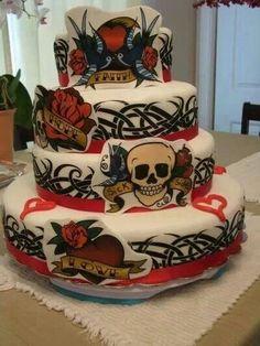 ED hardy cake.... love it