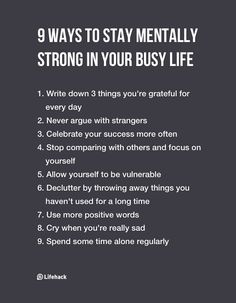 Nine Ways To Stay Mentally Strong In Your Busy Life - DesignTAXI.com