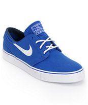 Nike SB Zoom Stefan Janoski Old Royal Blue & White Canvas Shoe