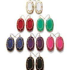 Kendra Scott, Framed Cabochon Earrings