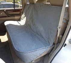Luxury Dog Cat Pet Car Back Seat Back Bench Cover Quilted Padded Washable Grey >>> Continue to the product at the image link.(This is an Amazon affiliate link)