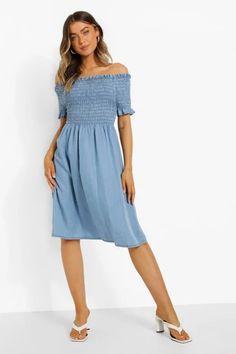 Dresses   Womens Dresses Online   boohoo UK Long Sleeve Smock Dress, Belted Shirt Dress, Cheap Dresses, Blue Dresses, Button Down Denim Dress, Maxi Bridesmaid Dresses, Wrap Dress Floral, Dress Collection, Dresses Online