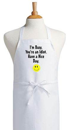 Funny Kitchen Apron Have A Nice Day Novelty Cooking Aprons