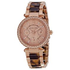 Michael Kors Multi-Function Rose Dial Rose Gold-tone and Tortoise-shell Ladies Watch - Tortoise - Michael Kors - Shop Watches by Brand - Jomashop Michael Kors Shop, Michael Kors Rose Gold, Michael Kors Tortoise Watch, Michael Kors Watch, Tortoise Shell Watch, Trendy Watches, Lady, Gold Watch, Watch Bands