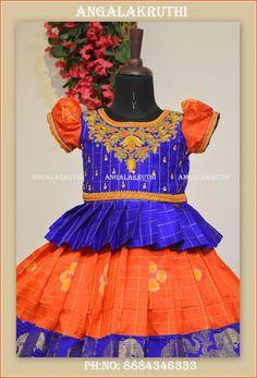 Angalakruthi-Custom designer boutique in Bangalore We. Kids Dress Wear, Kids Gown, Dresses Kids Girl, Kids Outfits, Kids Indian Wear, Kids Ethnic Wear, Kids Lehenga, Baby Lehenga, Kids Party Wear