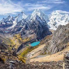 Trekking in the Cordillera Huayhuash Mountains has been described as one of the most beautiful treks in the world. After having done it once and then again a year later, I'd have to agree. The mountains rise sharply like a great white spine above the earth with crashing glaciers near their summits and breath-taking glacial lakes at their bases.  by @moonmountainman #secretescaping #tuesdaytraveltakeover #travel #adventure #peru #mountain #getoutside #explore #adventuretravel #lagunachurup…