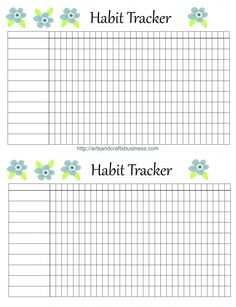 Printable Editable Habit Tracker Type In Your Text Me Myself And