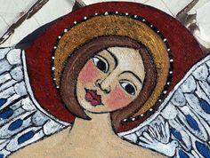 Original Angel Modern Folk Art acrylic painting by lindakellyart, $70.00    ----BTW, Please Visit:  http://artcaffeine.imobileappsys.com