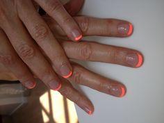 Beautiful neon manicure