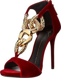 s high heels : giuseppe zanotti rhinestone embelli Fab Shoes, Cute Shoes, Women's Shoes Sandals, Me Too Shoes, Shoe Boots, Stilettos, Louboutin, Hot Heels, Womens High Heels