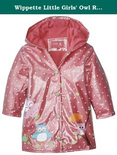 Clever Raincoat Toddler 3t Girls Pink Cat Leopard Print Wippette Kids Rain Coat Kitten Clothing, Shoes & Accessories Outerwear
